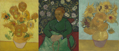Compilatie van schilderijen die troost moeten uitdrukken, zoals blijkt uit de briefschets