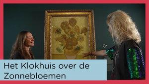 Video thumbnail conservator Nienke Bakker en Klokhuis-presentatrice Janouk Kelderman  voor het schilderij Zonnebloemen van Vincent van Gogh