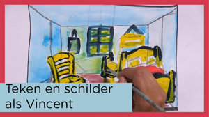 Thumbnail voor de video afspeellijst Teken en schilder als Vincent