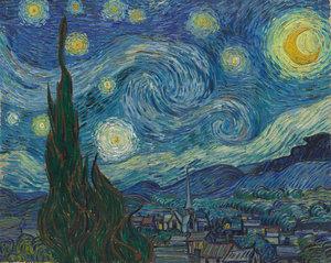 Vincent van Gogh, Sterrennacht, 1889. Collectie: Museum of Modern Art, New York.