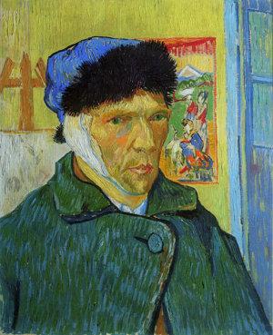 Vincent van Gogh, 'Zelfportret met verbonden oor', 1889. Collectie: The Samuel Courtauld Trust